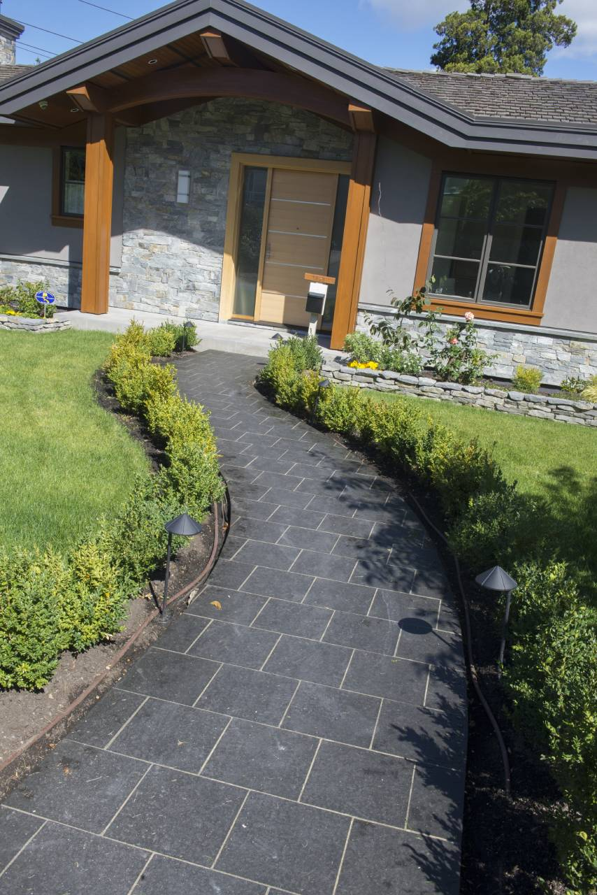 D - Natural stone front path
